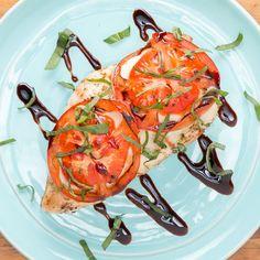 Tomato, Basil & Mozzarella Chicken Recipe by Tasty Tasty Videos, Food Videos, Mozzarella Chicken, Fresh Mozzarella, Basil Chicken, Good Food, Yummy Food, Cooking Recipes, Healthy Recipes