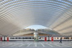 Liege-Guillemins railway station, by Santiago Calatrava