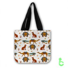 Cheap Egyptian Pattern Tote Bags