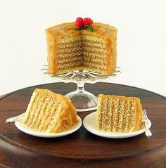 Alison Shibata's wonderful many layered caramel cake on the The Mini Food Blog