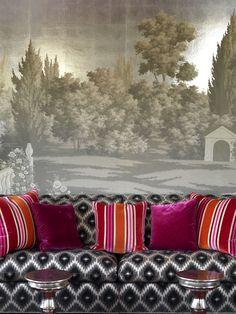 Misha custom wallcoverings for living room Home Wallpaper, Custom Wallpaper, Designer Wallpaper, Artisan & Artist, Composition Design, Rome, Room Interior Design, Armchair, Living Rooms