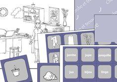 Cherche et trouve - j - En partage au format du logiciel sur le groupe Face Book : Partage de matériel Artiskit : Orthophonie http://www.facebook.com/groups/128326657315777/