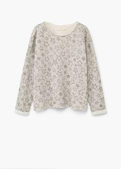Sweat-shirt coton étoiles | MANGO KIDS