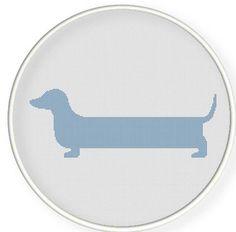 Instant download,free shipping,Cross stitch pattern, Crossstitch PDF/JPEG,simple Sausage dog cross stitch, pillow pattern,zxxc0285 on Etsy, $5.93
