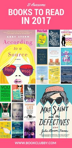 Pin for later: 21 recommended books to read in 2017. A varied reading list for your book club or just if you like to curl up with books worth reading.