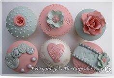Shabby Chic style cupcakes