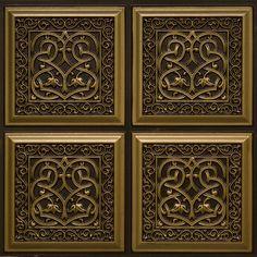 Decorative Ceiling Tiles, Inc. Store - Lover's Knot - Faux Tin Ceiling Tile - Glue up - - Covering Popcorn Ceiling, Tile Steps, Faux Tin Ceiling Tiles, Decorative Borders, Decorative Walls, Decorative Accents, Tiles For Sale, Border Tiles, Tile Installation