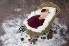 Wine Knit Wrap With Free Headband For Newborn Photo Shoot, Maternity Prop…