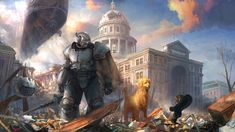 study by hammk Fallout Fallout 4 Concept Art, Fallout Fan Art, Fallout Brotherhood Of Steel, Post Apocalyptic Series, Fallout Lore, Fallout Power Armor, Fallout New Vegas, Post Apocalypse, Video Game Art