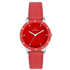 Product Name: Walrus Eve Red Color Analog Women Watch -WWW-Eve Description: Brand: Walrus Battery Type: Lithium Ion Display Type: Glass Red Color, Watches, Leather, Accessories, Women, Products, Women's, Clocks, Clock