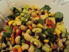 vegetable salad with blackeye peas | The Mostly Vegetable Kitchen