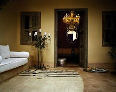A riad in Marrakech, Morocco Moroccan Design, Moroccan Style, Design Marocain, Tadelakt, Moroccan Interiors, Contemporary Interior Design, Home Decor Furniture, Restaurant Design, Home Living Room