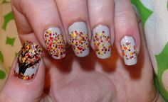 Autumn Tree/Leaves Nails