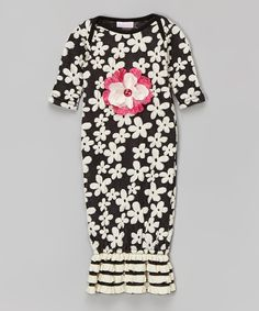 Look at this cachcach Black Floral Little Charmer Dress - Infant on #zulily today!