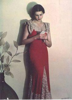 1930's fashion | Theatrical Romantic (Kibbe)