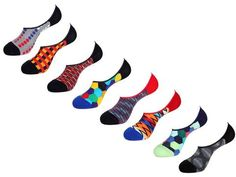 No Show Socks Value Pack by Unsimply Stitched fun colorful designs Combed Cotton Nylon Spandex Shark Socks, Mens Novelty Socks, No Show Socks, Your Style, Stitch, Cotton, Fashion, Moda, Full Stop