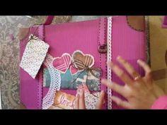 Como hacer una Maleta scrapbook - YouTube