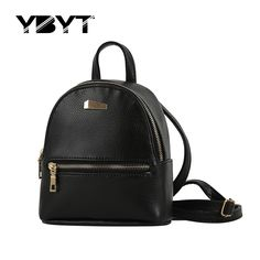 YBYT brand 2016 new small fashion rucksack hotsale women shopping purse ladies joker bookbag travel bag student school backpacks * Check out the image by visiting the link.