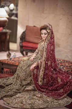 Best Pakistani Wedding & Party Dresses by top designers Latest Bridal Dresses, Wedding Dresses For Girls, Bridal Outfits, Wedding Party Dresses, Unique Dresses, Pakistani Wedding Outfits, Pakistani Wedding Dresses, Nikkah Dress, Wedding Hijab