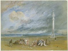 Joseph Mallord William Turner 'Yarmouth Sands' - , c.1824–30 - Watercolour and bodycolour on paper -  Dimensions Support: 185 x 245 mm -  © The Fitzwilliam Museum, Cambridge 2003