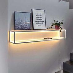 Aufbewahrung - kaufen bei Licht+Design Skapetze Floating Nightstand, Floating Shelves, Applique Led, Led Wall Lights, Luz Led, Energy Efficiency, Interior Inspiration, Plank, Furniture