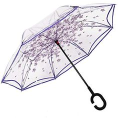 Reverse Umbrella Double Layer Inverted Umbrellas For Car Rain Outdoor With C-Shaped Handle Dragonfly Silhouettes With Lace Details Customized