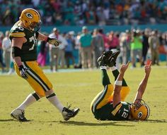 Packers vs Dolphins 27-24. After Andrew Quarless caught the game winning touchdown!! R-E-L-A-X