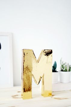 DIY Solid Gold Letters - Great for every room and home style!
