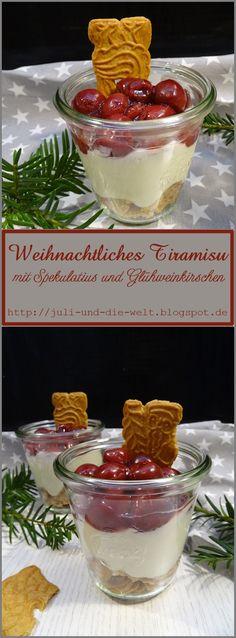 Weihnachtliches Tiramisu mit Spekulatius und Glühweinkirschen / http://juli-und-die-welt.blogspot.de