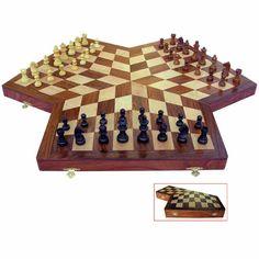 3 WAY WOODEN CHESS SET;              online backgammon > on.fb.me/1869cF3