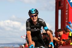2014 vuelta-a-espana photos stage-18 - 2nd Christopher Froome (Team Sky) moved up to 2nd overall and gained 20s on race leader Alberto Contador