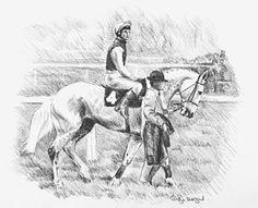 Race Horse Drawing - Desert Orchid  by Kathryn Dalziel