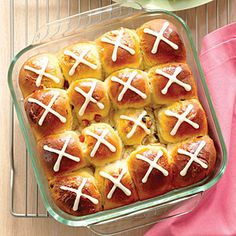Orange Hot Cross Buns | MyRecipes.com