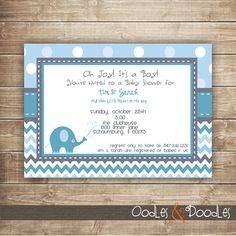 Elephant Invitation Printable By OandD On Etsy