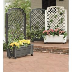 Self-Watering Planter Trellis | Planters | Plow & Hearth
