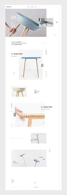 scandinavian Webdesign Bandsøme on Behance