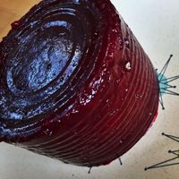 Alton Brown's Cranberry Sauce Recipe - Made from scratch but set in a can for nostalgia. Genius!