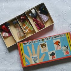 Czech Wooden Finger Puppets