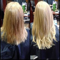Incredible before & after with VOMOR Hair Extensions. Longer, fuller and thicker hair can be yours too! (Stylist/Colorist, Natalie Tyler) #vomor #extensions #avedablonde