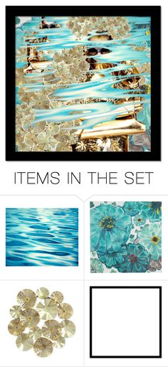 """""""Gold rush"""" by beanpod ❤ liked on Polyvore featuring art, gold, Blue and abstract"""