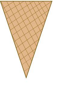 Eigen Ijscreatie (Lamineren) Ice Cream Cone Craft, Ice Cream Crafts, Ice Cream Theme, Ice Cream Day, Ice Cream Template, Cone Template, Templates Printable Free, Printables, Mig E Meg