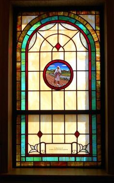 Stained Glass Windows at Evans Chapel AME Zion Church in Siler City, NC