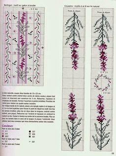 ♥Meus Gráficos De Ponto Cruz♥: Flores de Lavanda na Cozinha em Ponto Cruz
