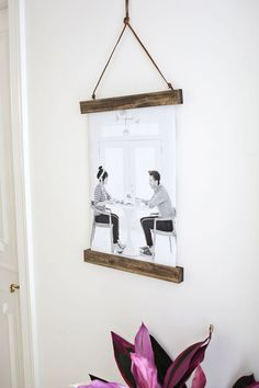 Yesterdays sweetheart diy add wood pieces to top and bottom of a diy poster hanger solutioingenieria Images