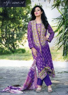 Nakaash Designer  Spring / Summer Collection 2015  Pakistani Dress Outfit.  Available to buy at www.alioutfits.co.uk