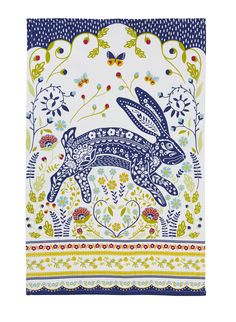 Woodland Hare Tea Towel by Ulster Weavers. A beautiful design with unbelievable detail in the print.