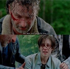The walking dead - Broke my heart. Maggie was not the only one who lost a piece of her family when Glen was taken, though it was her third and last. Ugh! Too much...