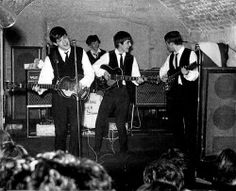 August 1963. Beatles perform for the last time in the Cavern Club in Liverpool. They made a total of 292 appearances at the club. #Beatles #CavernClub #1963