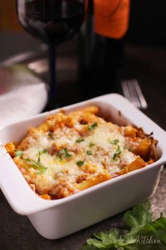 Baked Ziti With Ricotta, Easy Baked Ziti, Baked Rigatoni, Single Serve Meals, Single Serving Recipes, Serving Dishes, Roasted Vegetable Pasta, Pasta With Meat Sauce, Mug Recipes