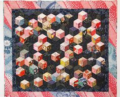 Floating Cubes - variations on the diamond - Quilt Japanese fabrics